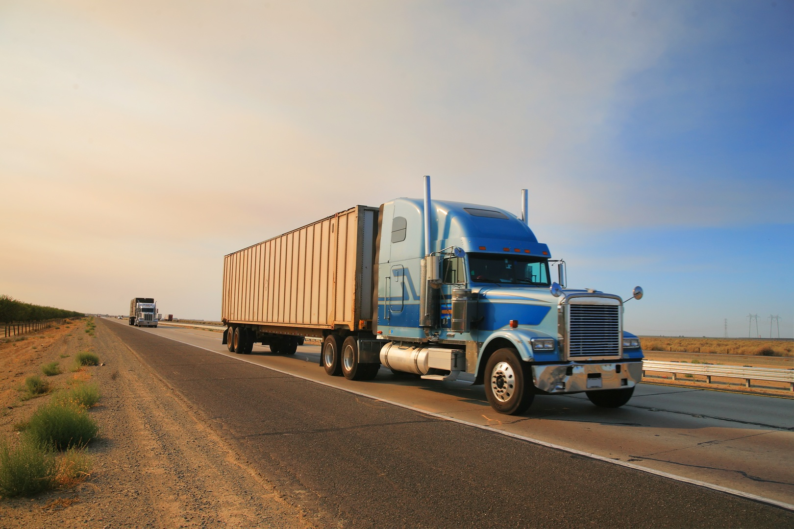 Freight Management - truck on the road
